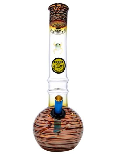 Agung Gold Fume With Frog Design-Bong-Agung-7221.Frog-Cloudy Choices